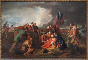 Benjamin West, The Death of General Wolfe, 1770, oil on canvas, 152.6 x 214.5 cm (National Gallery of Canada; photo: Steven Zucker, CC BY-NC-SA 2.0)