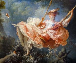 Female figure (detail), Jean-Honoré Fragonard, The Swing, 1767, oil on canvas, 81 x 64.2 cm (Wallace Collection, London; photo: Steven Zucker, CC BY-NC-SA 2.0)