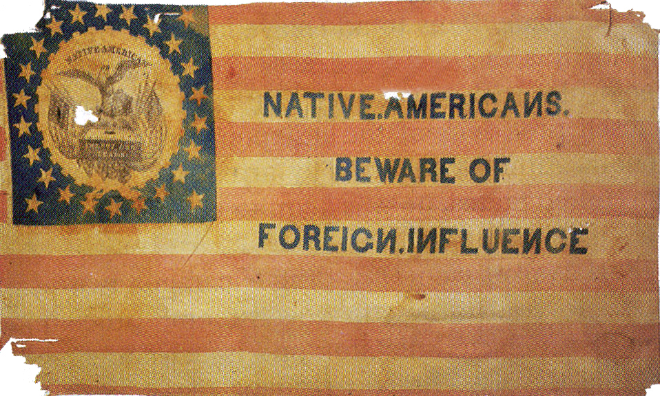 Know-Nothing Party flag, c. 1860.