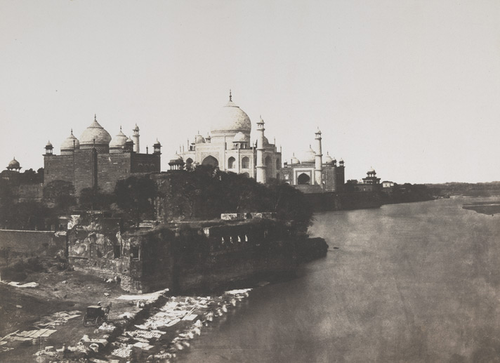 John Murray, Distant view of the Taj from the East, [Agra], 1855, photographic print (The British Library)