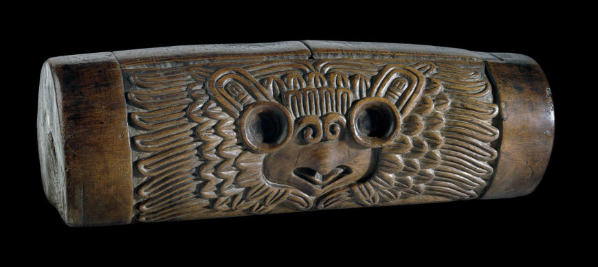 Wooden slit-drum (teponaztli) Mexica*, AD 1325-1521 From Mexico