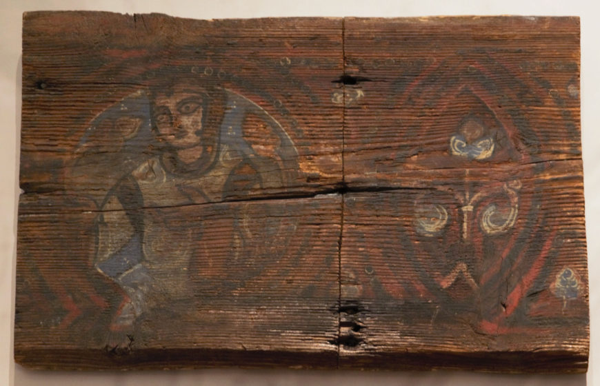 Painted wooden ceiling panel, Cefalù Cathedral, 1131-1240 (photo: Ariel Fein, CC BY-NC-SA 2.0)