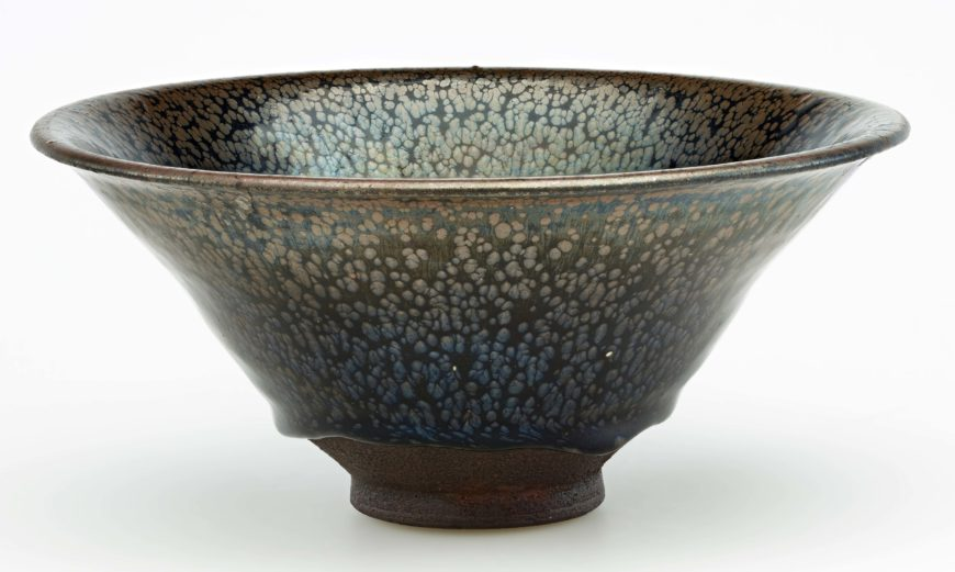 Bowl, Northern Song or Southern Song dynasty, 12th century, Jian ware, Stoneware with iron-pigmented glaze, China, Fujian province, 8.8 x 19.2 cm (Freer Gallery of Art, Smithsonian Institution, Washington, DC: Gift of Charles Lang Freer, F1909.369)