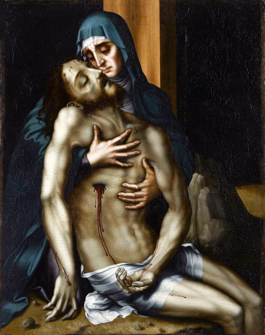 Luis de Morales, Piedad, c. 1560–70, oil on panel (Louvre Museum)