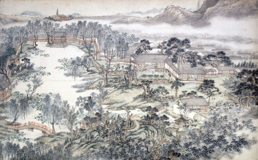 Tang Yifen 湯貽汾, Aiyuan tu 愛園圖 (Garden of Pleasure), handscroll, 1848, Qing dynasty, paint on paper, China, 59 x 160 cm (© Trustees of the British Museum)