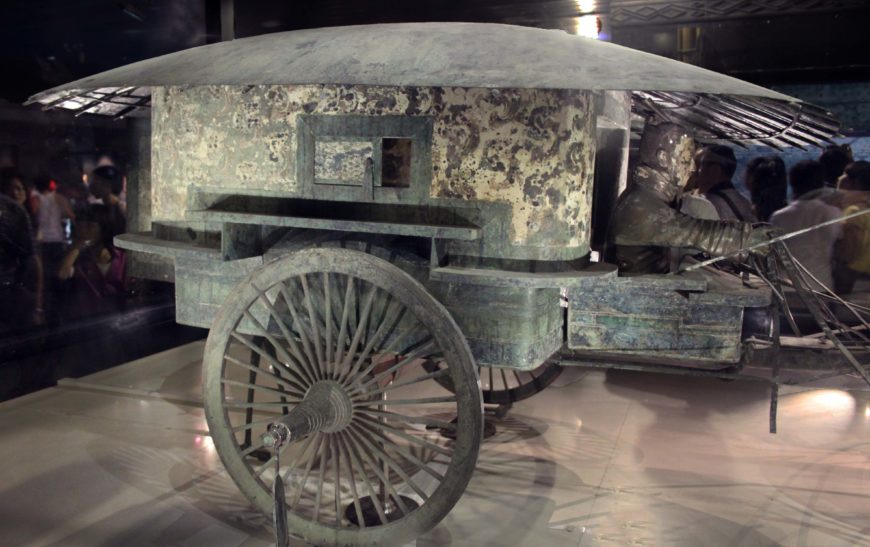 View of the second chariot (The Museum of Qin Terra-cotta Warriors and Horses - Xi'an; photo: Gary Todd)