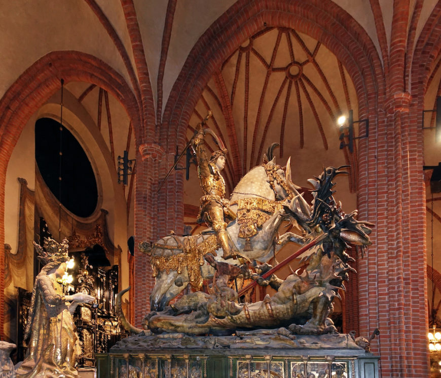 St. George and the Dragon, Storkyrkan Stockholm, c. 1490, (photo: Alexey M., CC BY-SA 4.0)