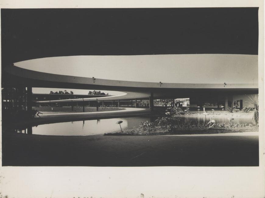 Werner Haberkorn, View of the Ibirapuera Marquee, c. 1954, gelatin Silver Print (Museu Paulista (USP) Collection)
