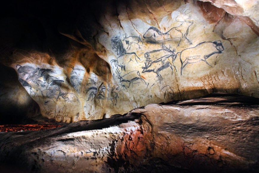 Replica of the painting from the Chauvet-Pont-d'Arc Cave in southern France (Anthropos museum, Brno)