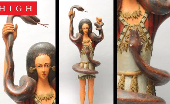"""Mami Wata"" figure, Igbo artist"