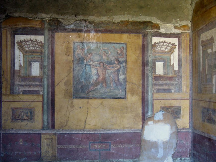 Fourth style wall paintings (from a room off the peristyle), House of the Vettii, Pompeii (photo: Lady Erin, CC BY-NC-ND 2.0)