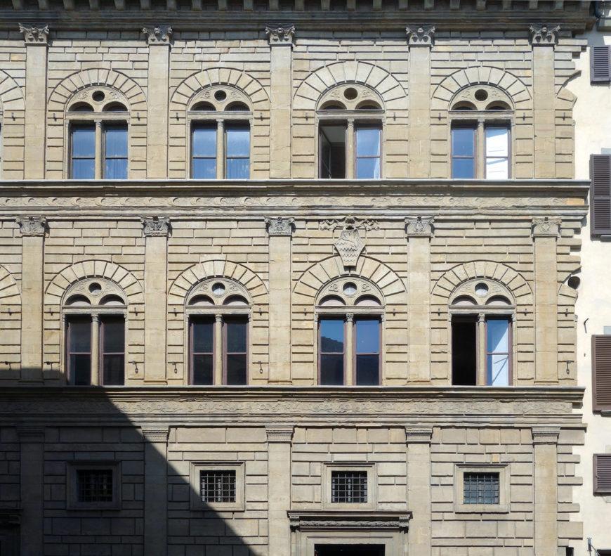 Leon Battista Alberti, Palazzo Rucellai, c. 1446–51, Florence, Italy (photo: Steven Zucker, CC BY-NC-SA 2.0)